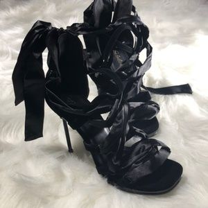 pleaser Shoes - Fabulicious Size 8 Black NEW 4.5 inch heels